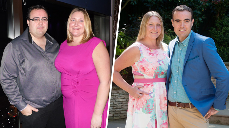The couple decided to lose weight together - and kept each other motivated!