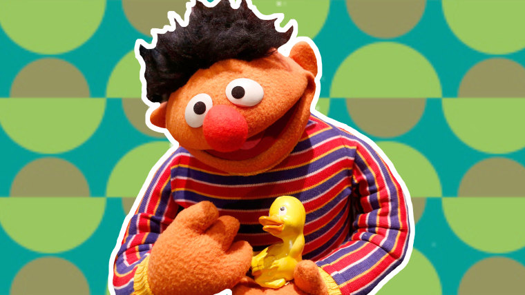 Ernie and rubber duckie