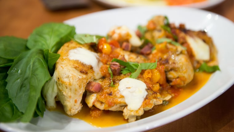 Melissa Clark shares her recipes for vibrant citrus salad and one-pan, pizza-inspired chicken skillet. TODAY, March 14, 2017.