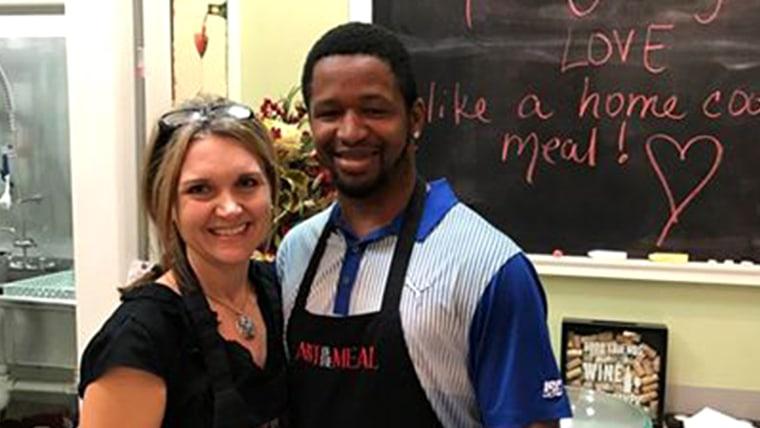 Woman helps homeless man start a new life.
