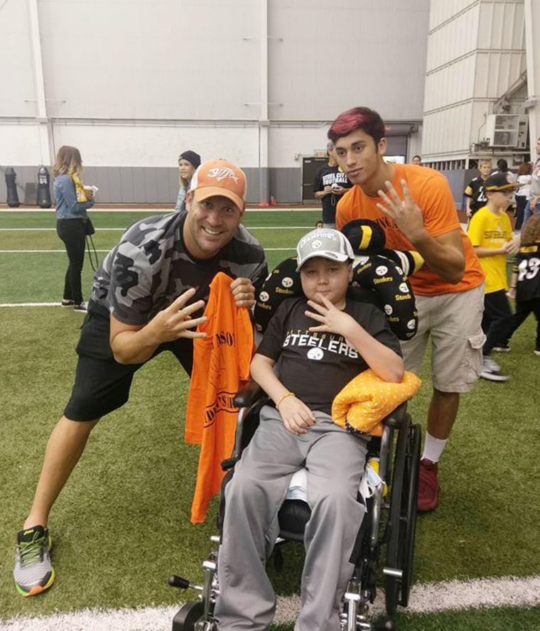 Dad helps son, Ayden Zeigler-Kohler, who has terminal brain tumors, to fulfill his bucket list.