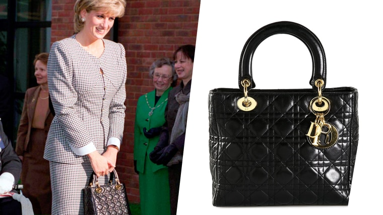 Princess Diana in 1995 Opening The National Institute Of Conductive Education At Cannon Hill House, Russell Road, Moseley, Birmingham.  The Princess Is Wearing A Black And White Houndstooth Check Suit And She Is Carrying A Christian Dior Black Handbag.