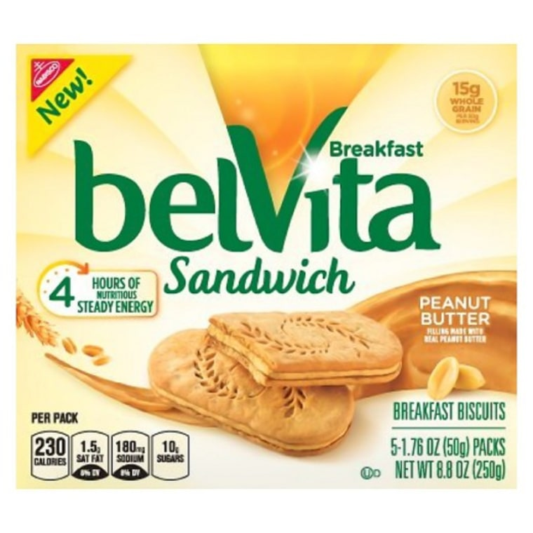 Belvita Sandwich Peanut Butter Breakfast Biscuits