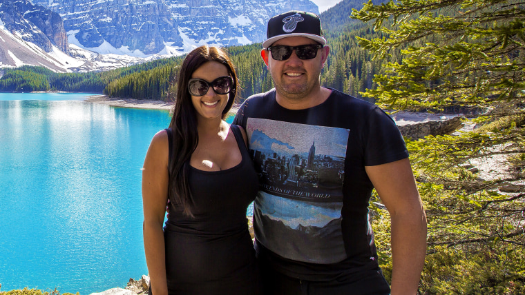 Dale Sharpe and Karlie Russell, both photographers, got engaged at the Northern Lights