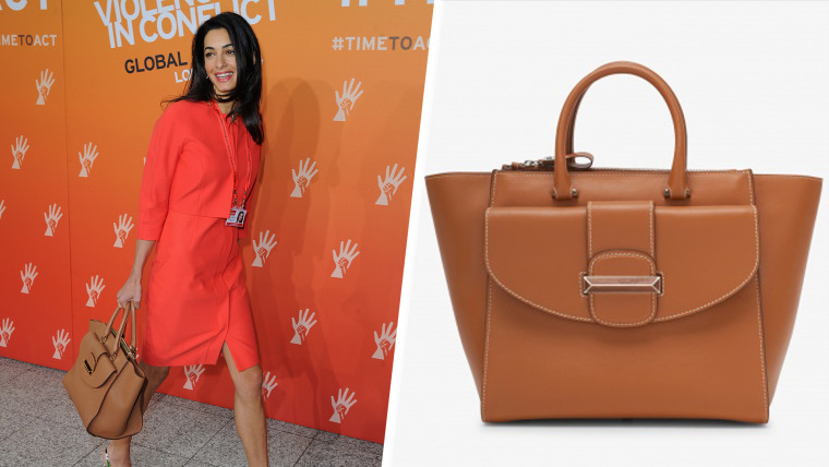 Once they learned she was a fan, the Italian accessories brand Ballin renamed this bag after Amal Clooney.