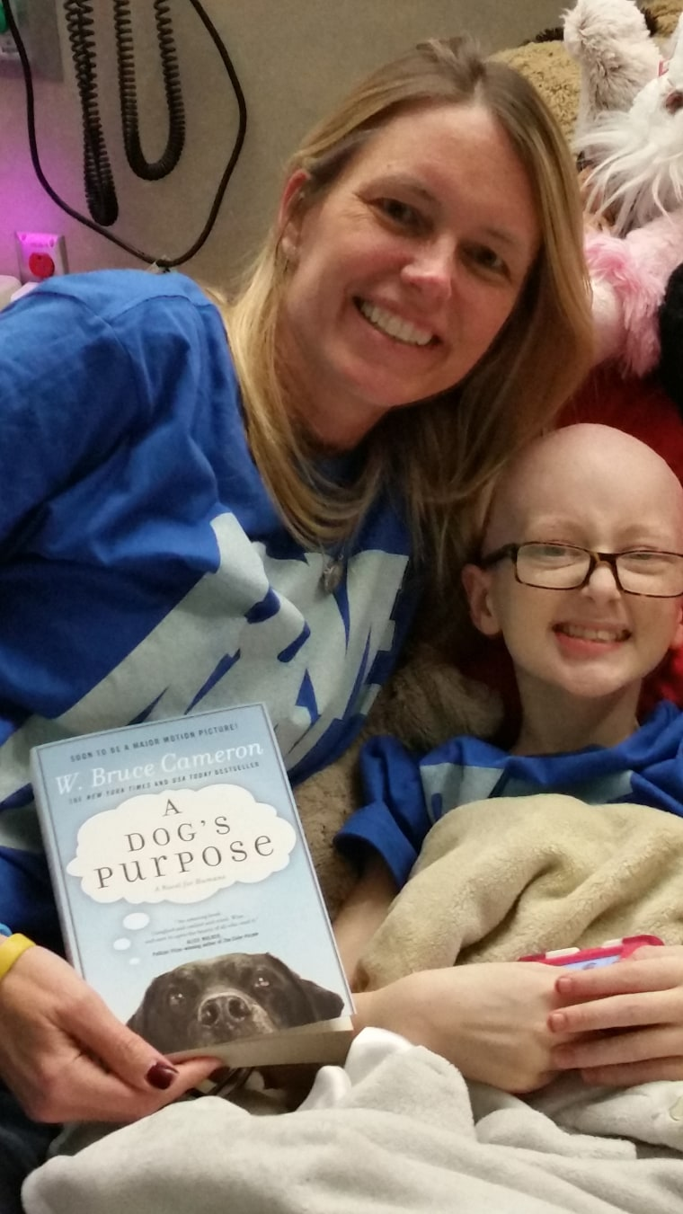 """For months, 12-year-old Brooke Mulford had been waiting to see """"A Dog's Purpose."""" She was afraid that wouldn't happen after she was hospitalized in February."""
