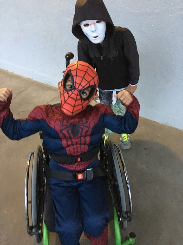 After an accident left him paralyzed, 7-year-old Bruce Mansy felt determined to dance again. But first, he decided to be Spider Man for Halloween, only six weeks after his accident