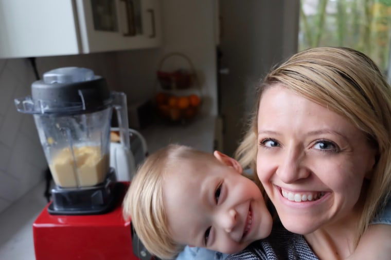 Kelsey Nixon and son Ollie