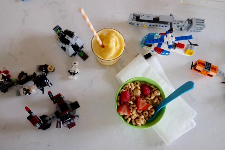 Kelsey Nixon's breakfast for her son Ollie