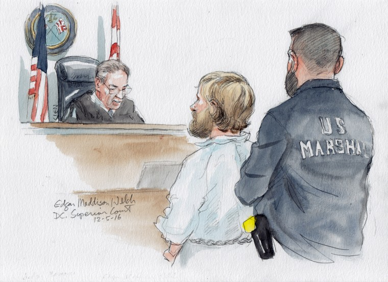 Edgar Maddison Welch appears in federal court in December 2016.