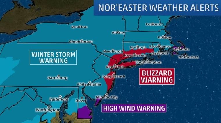 Image: The Weather Channel map showing weather alerts