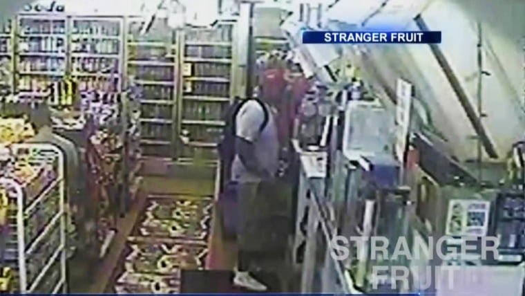 """Image: Michael Brown appears in security camera footage obtained from the documentary \""""Stranger Fruit.\"""""""
