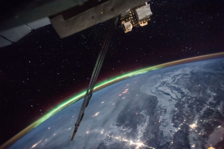 Image: The view from the International Space Station as it orbits around the Earth