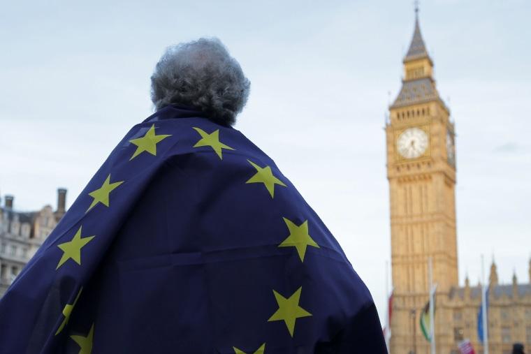 Image: BRITAIN-EU-BREXIT-PARLIAMENT-POLITICS-PROTEST