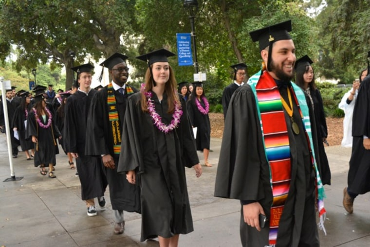 College graduation Pomona College