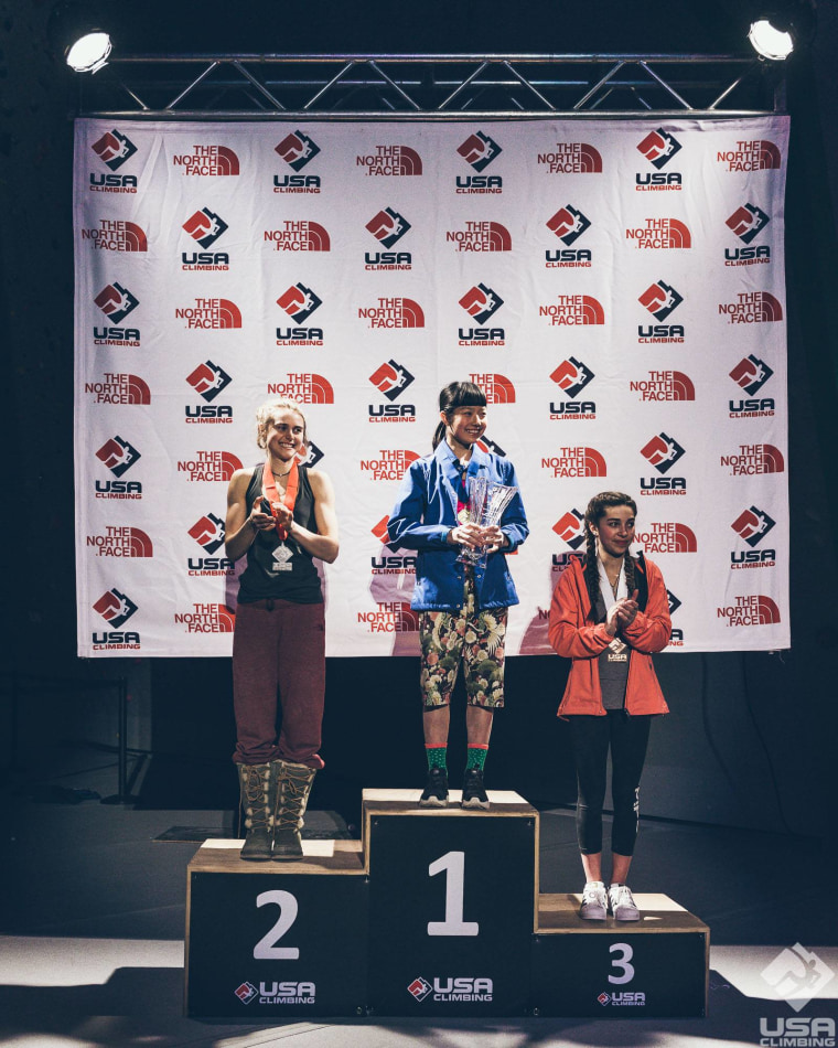 Ashima Shiraishi took first place at the 2017 USA Climbing Sport & Speed National Championships held March 10 and 11.