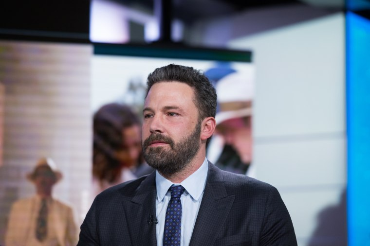 """Image: Ben Affleck speaks to TODAY about his recent movie """"Live by Night"""""""