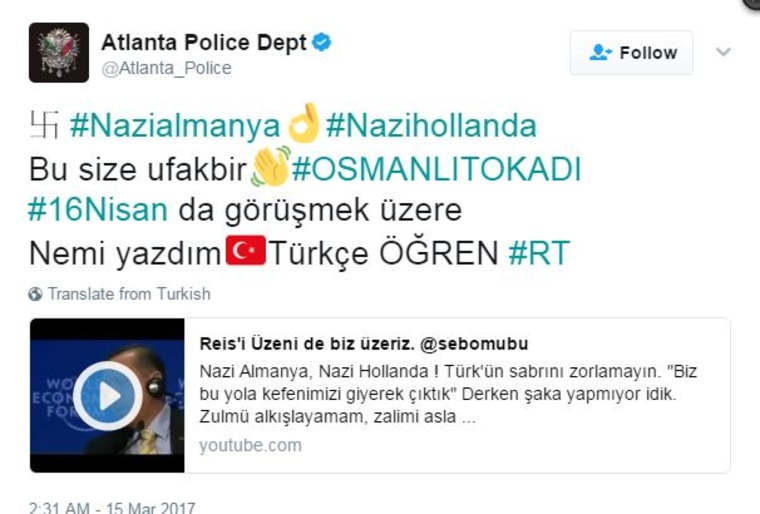 Image: The Atlanta PD was apparently hacked.