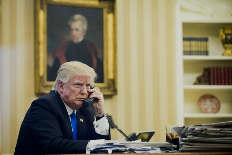 Image: Trump speaks on the phone with Austrialian Prime Minister Malcolm Turnbull