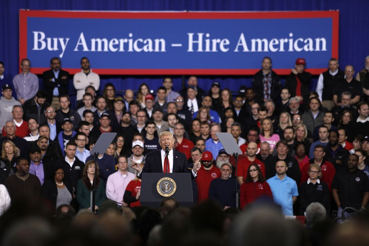 Image: President Trump Speaks At American Center For Mobility In Ypsilanti, Michigan
