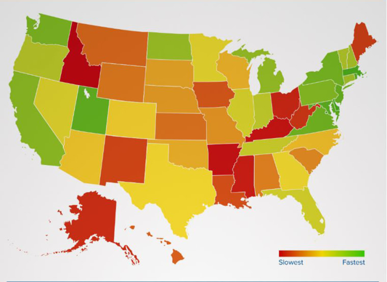 Image: Fastest Internet by State