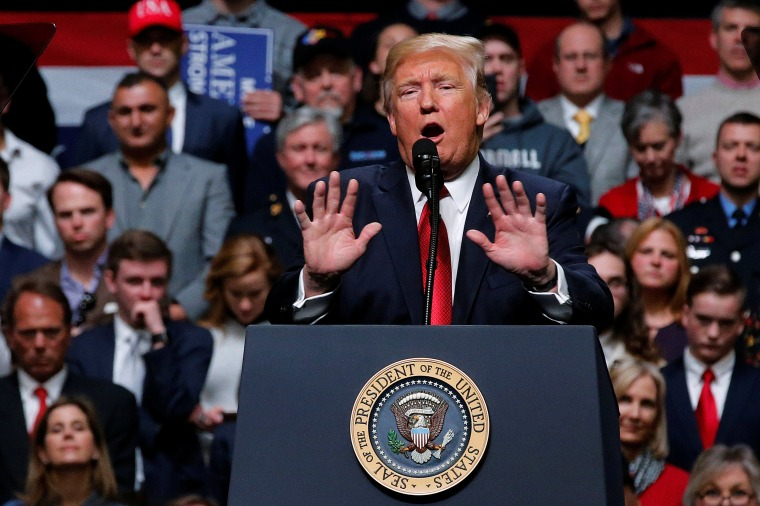 Image: U.S. President Donald Trump holds a rally at Municipal Auditorium in Nashville, Tennessee