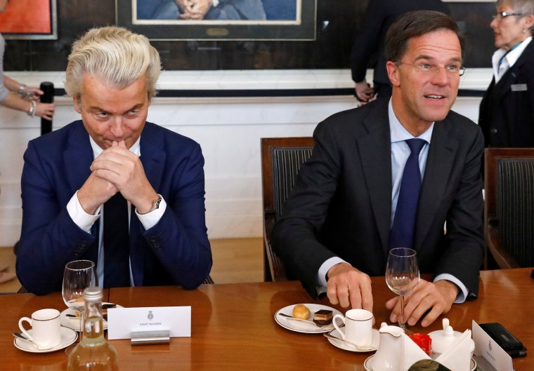 Image: Dutch Prime Minister Mark Rutte and Geert Wilders