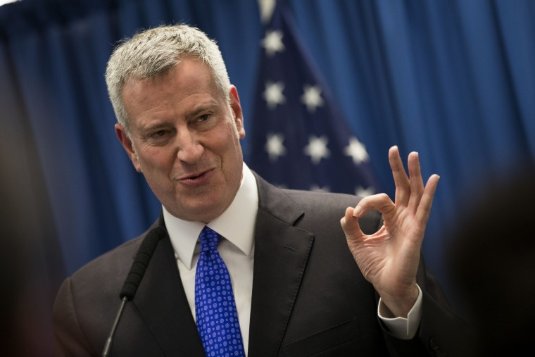 Image: NYC Mayor De Blasio Delivers Speech On Combatting Homelessness