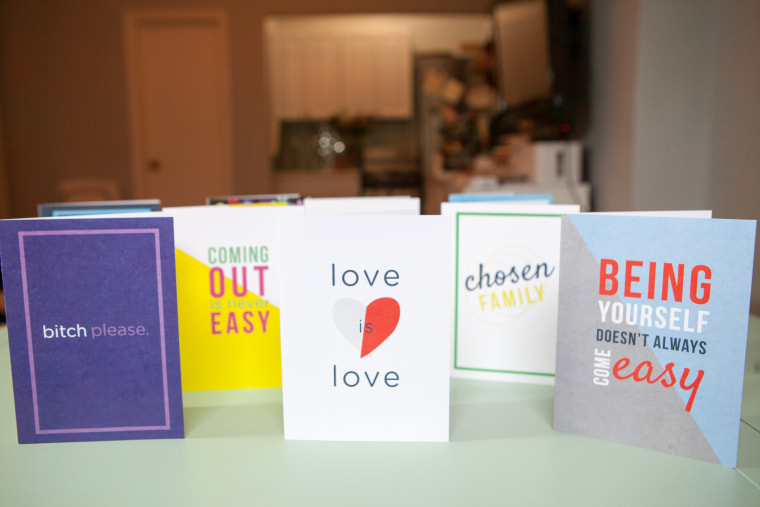 gaygreetings cards on display