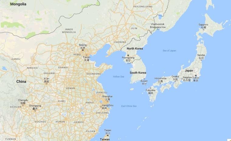 Image: Map showing Beijing, Tianjian and Heibei
