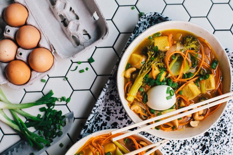 Image: Carrot noodle vegetarian ramen
