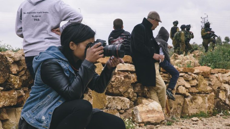 Palika Makam shooting footage in Palestine.