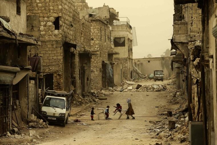 Image: TOPSHOT-SYRIA-CONFLCIT-ALEPPO