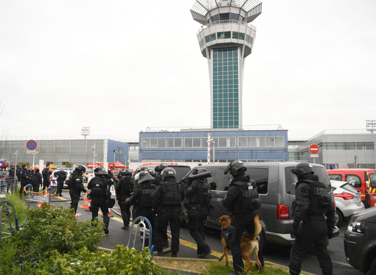 Image: Image: French police secure Paris Orly Airport