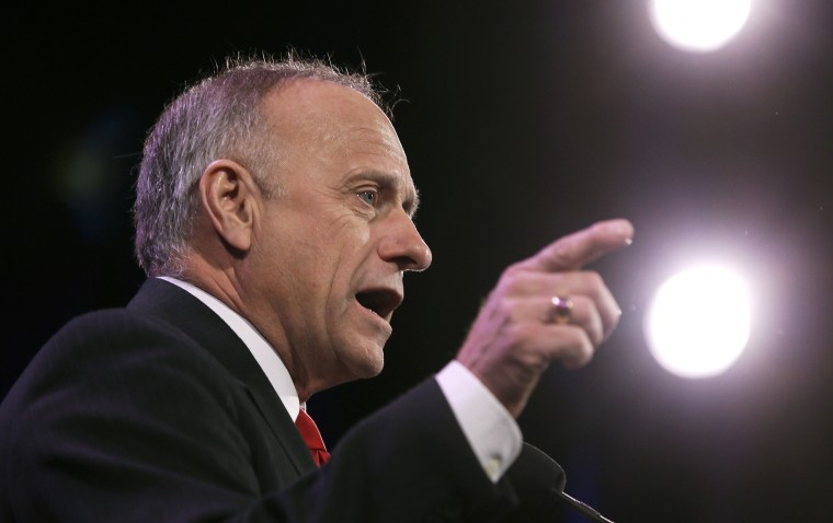 Image: Rep. Steve King speaks during the Freedom Summit