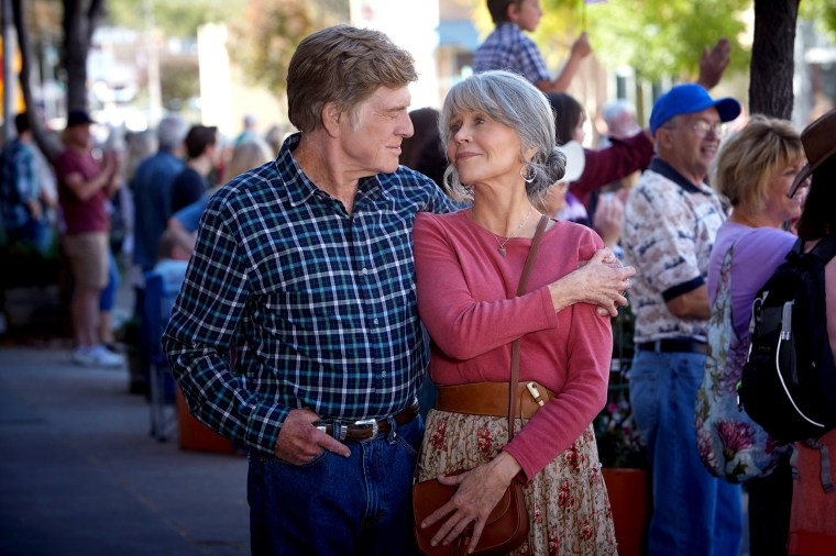 """Jane Fonda and Robert Redford from their new movie, Netflix's """"Our Souls at Night"""""""
