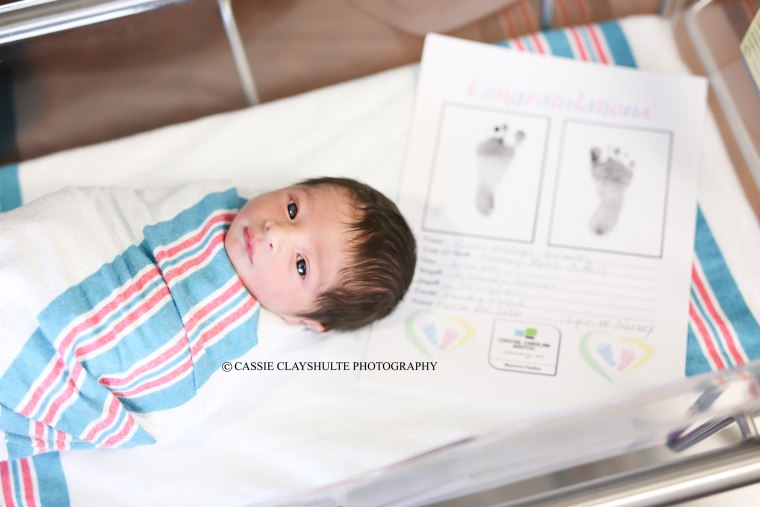 Romeo Hernandez was born 18 hours and 8 minutes before the birth of his Juliet in the next room at a South Carolina hospital on Monday.