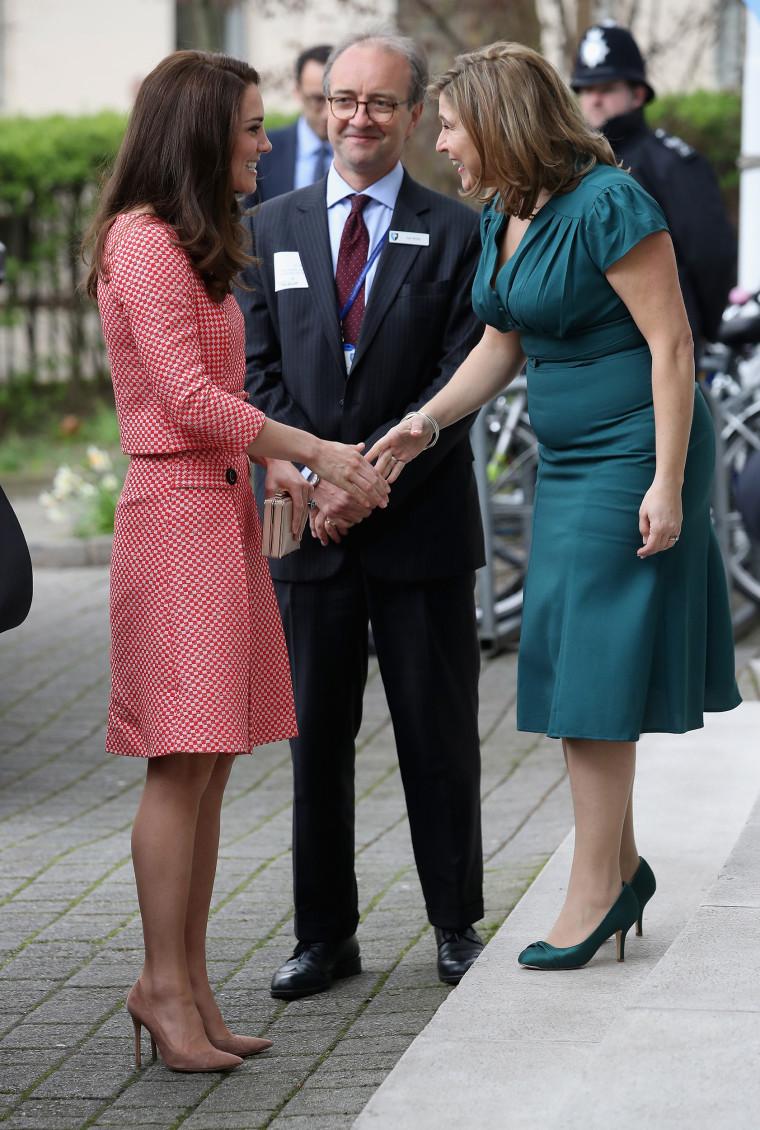 Duchess Of Cambridge, former Kate Middleton, arrives at speech on maternal mental health