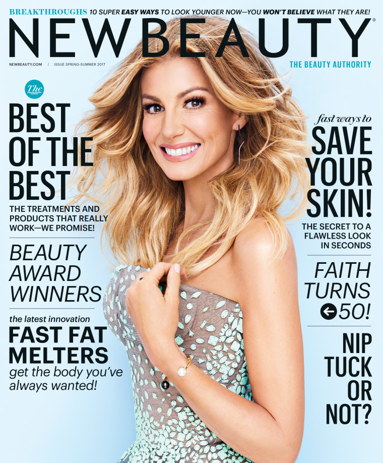 Faith Hill NewBeauty Magazine Cover