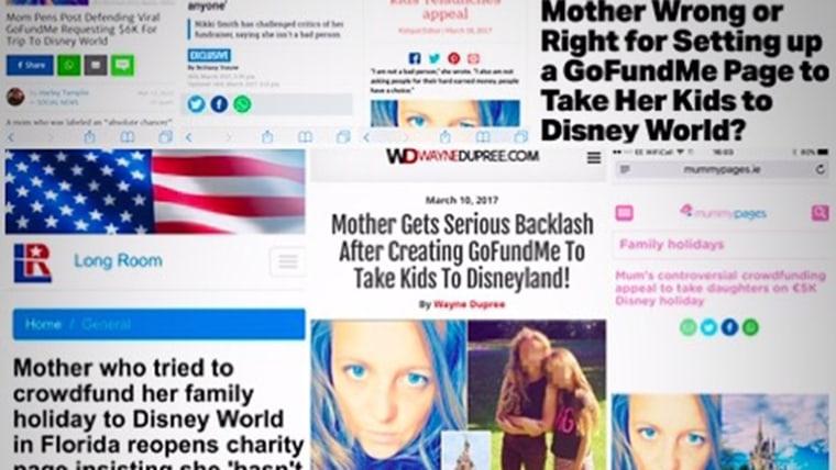 Disneyland Go Fund me mom