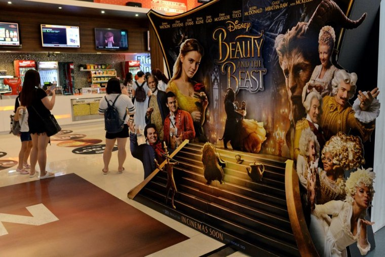 IMAGE: 'Beauty and the Beast' display