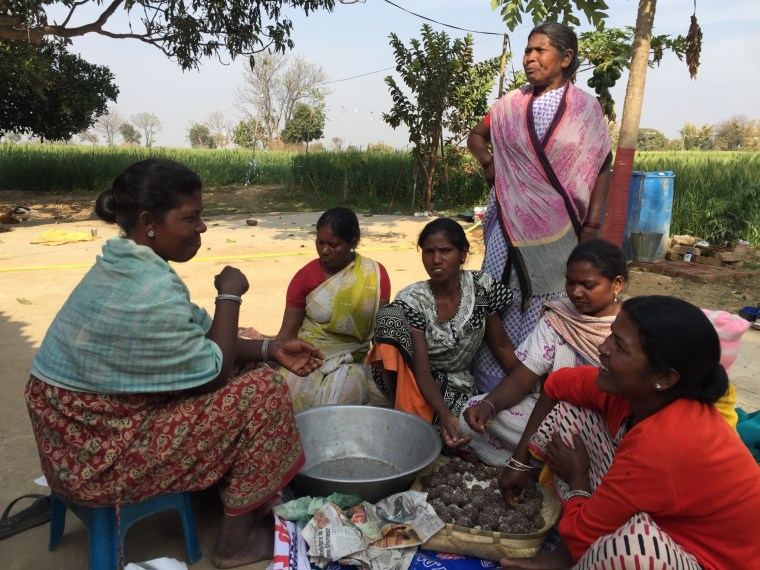 Women in Eastern India make sweets out of the mahua flower, which is usually made into alcohol.