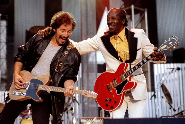 Image: Bruce Springsteen and Chuck Berry