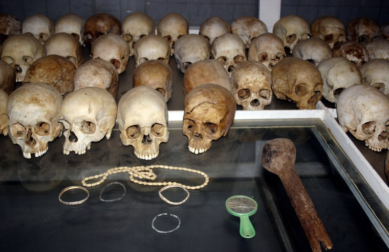 Image: Skulls of victims of the 1994 Rwandan genocide
