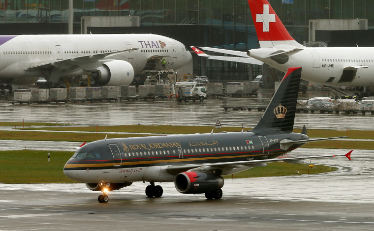 Image: An Airbus A319-132 aircraft of Royal Jordanian Airlines is seen on Oct. 21, 2016.
