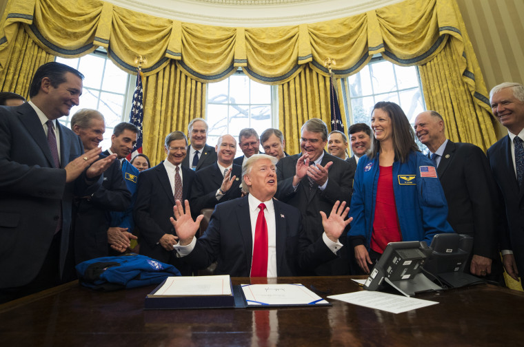 Image: US President Donald J. Trump Signs NASA Transition Authorization Act