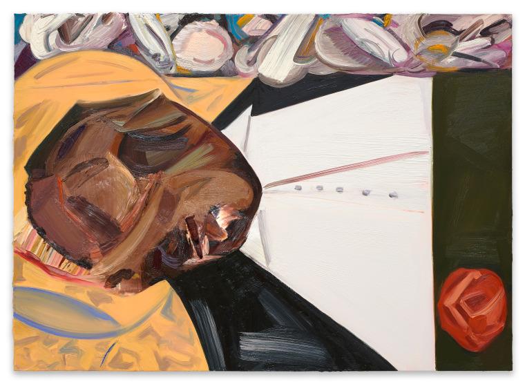 "Dana Schutz's ""Open Casket,"" a 2016 painting in the 2017 Whitney Biennial"