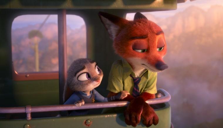 Image: A scene from Disney's Zootopia