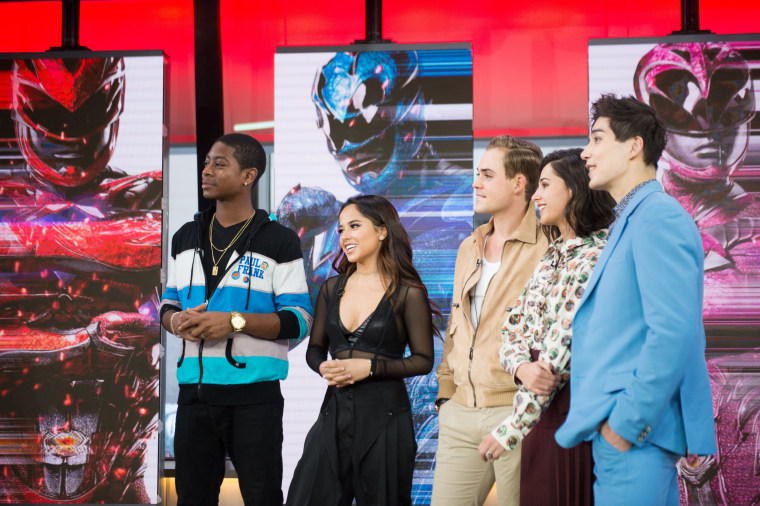 Image: Young cast of the new Power Rangers film on the Today Show. March 20, 2017.