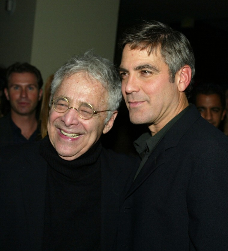 Image: Chuck Barris and George Clooney in 2002